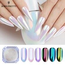 Nascido bonito neon glitter espelho prego em pó 0.2g ultra fino cromo pigmento diy decorações da arte do prego