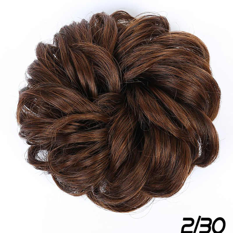 Buqi Sintetis Rambut Palsu Bun Chignons untuk Wanita Dewasa Elastis Scrunchies Potongan Rambut Bun Rambut Ekor Updo Afro Ekor Kuda Aksesori