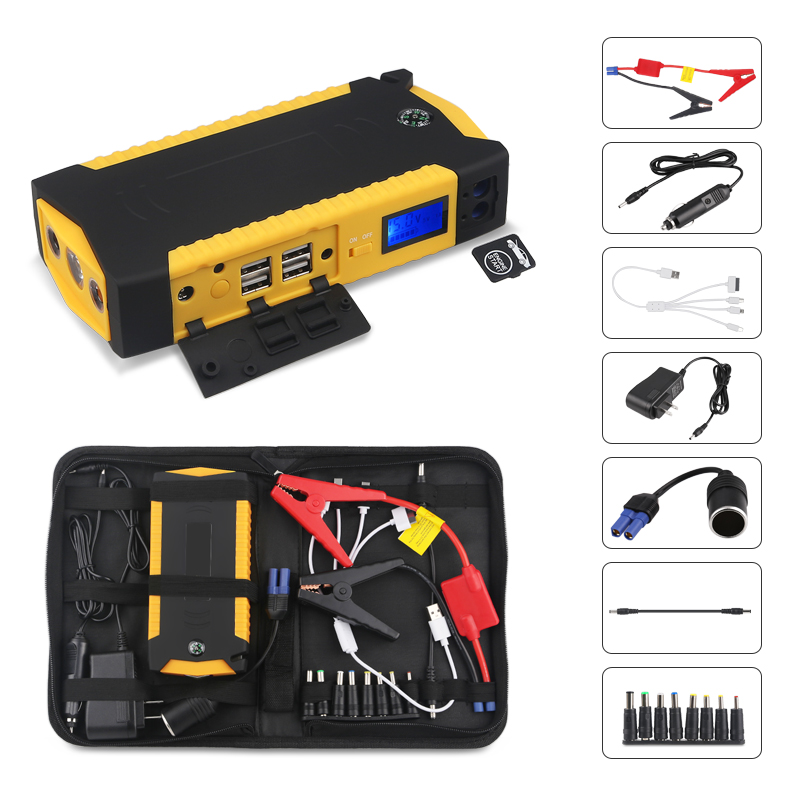 82800mAH Emergency Jump Starter <font><b>Car</b></font> Booster <font><b>Battery</b></font> Power Bank Peak 600A Portable <font><b>Car</b></font> <font><b>Battery</b></font> Booster With USB <font><b>Charger</b></font> Led <font><b>Light</b></font> image