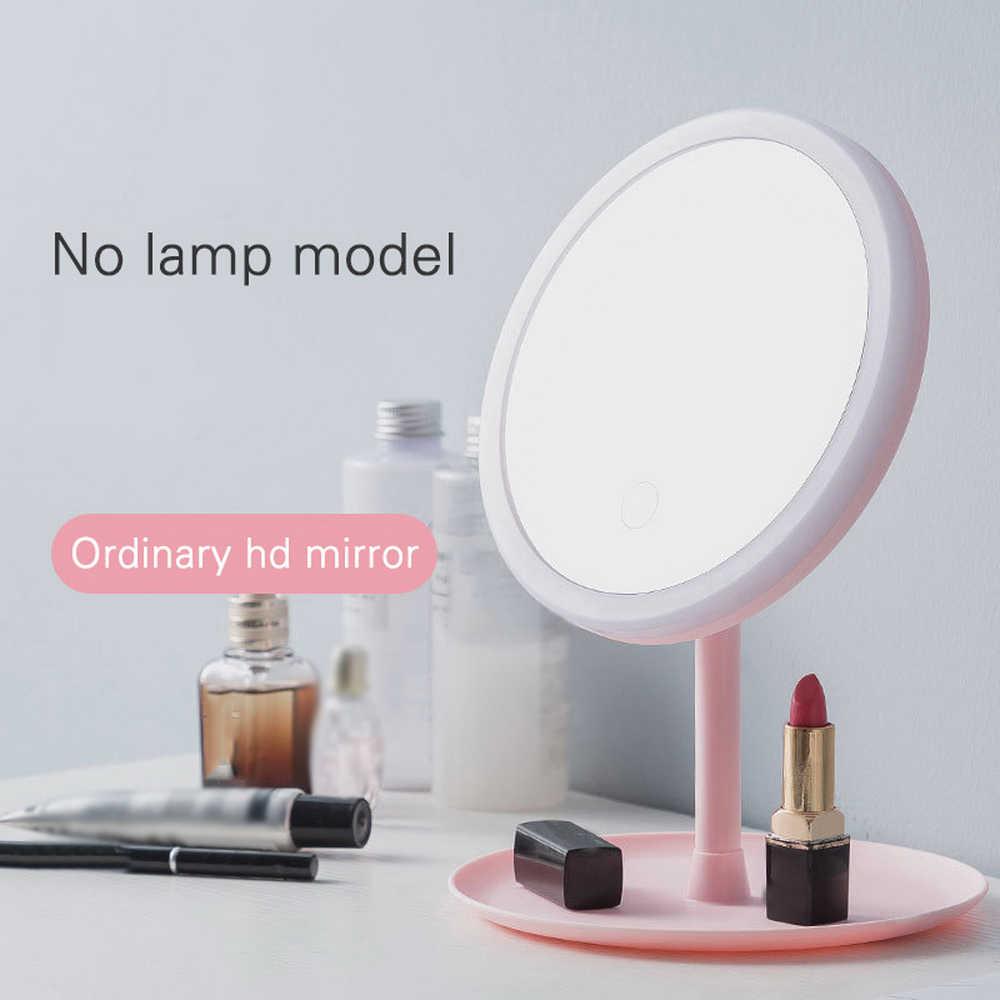 Maquillaje LED luz con equipadas espejo de maquillaje espejo de aumento de tocador desmontable/almacenamiento Base 3 modos de belleza espejo de luz