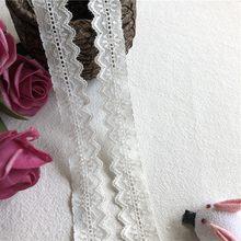 Ruban blanc en dentelle de coton S1875 2.5 cm, garniture de fête de mariage, artisanat/hometexil/robe couture pour enfant, patchwork fait, 2.5 cm