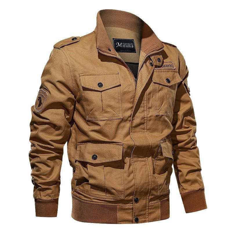 Tooling Military Men Jacket Winter Thick Casual Jacket Coat Fleece Pilot Jackets Air Force Cargo Jacket Windbreaker Men 39 s Parka in Jackets from Men 39 s Clothing