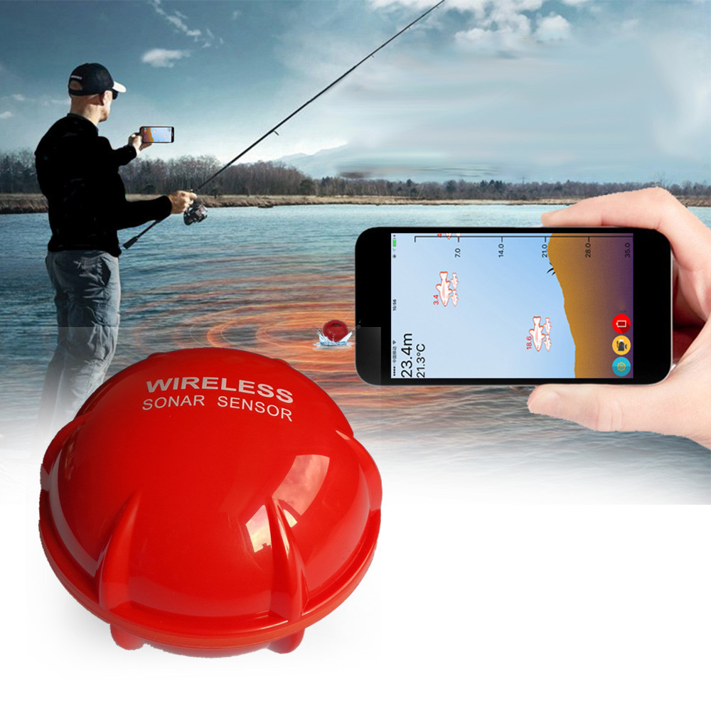 Mobile Phone fish finder Sonar Wireless Visual High-definition School of Fish Detector Angling Sonar Fishing Tool Fish Finder Ch