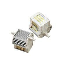 Диммер R7S 78 мм 15 Вт светодиодный Светодиодная лампа-кукуруза AC110-130V AC200-240V SMD2835 с горизонтальным разъемом для того, чтобы заменить 150 Вт галоге...