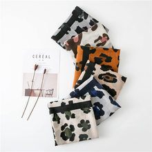 Women Scarf Autumn Fashion Cotton Shawl Luxury Designer Autumn Print Shawl Leopard Print Long Scarf Foulard Femme(China)