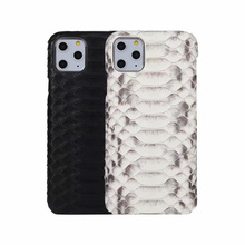 Luxury Genuine Python Leather FHX 28K Back Cover for Iphone 11 11Pro MAX Original Leather Case for iPhone 7 8 Plus X XR XS MAX