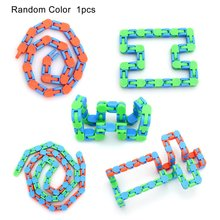Funny Tracks Bicycle Chain Track Puzzle Decompression Sensory  Toys Rotate Chain 24 Section Educational Toys Random Color