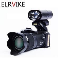 ELRVIKE 2021 디지털 카메라 HD 폴로 D7200 33 백만 화소 자동 초점 전문 SLR 비디오 카메라 24 배 광학 줌 3 렌즈