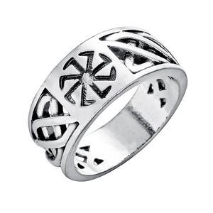Ностальгия, славянский символ коловрата, Женское кольцо на палец, болгская бижутерия, мужские кольца серебряного цвета