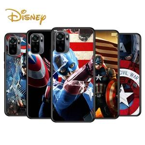 Image 1 - Captain America Marvel Voor Xiaomi Redmi Note 10 10S 9 9T 9S 9Pro Max 8T 8Pro 8 7 6 5 Pro 5A 4X 4 Zachte Zwarte Telefoon Case