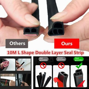 1M Scratch Proof Car Door Seal Strip High Density Styling Moulding Universal Shape Hood Weatherstrip Edge Trunk L Rubber Tr A2F1 image