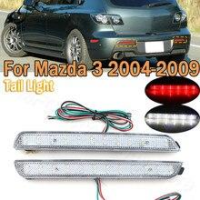PMFC светодиодный стоп-сигнал светильник задний бампер отражатели задние тормоза стоп бег поворота светильник противотуманная фара для Mazda 3 ...
