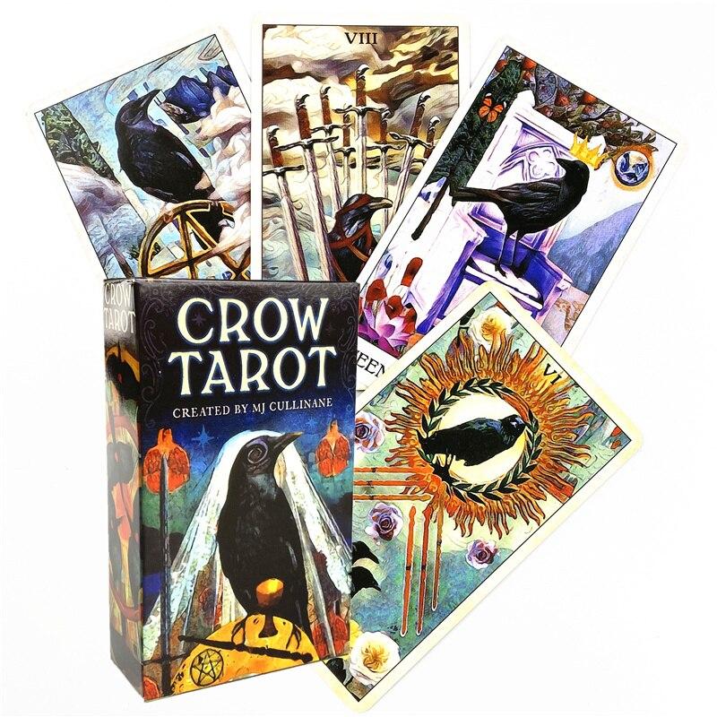 2021 ворона, карты Таро и PDF, руководство, колода для вечерние, игр, судьбы, гадания, карты, оптовая продажа
