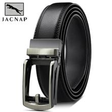 JACNAIP Genuine Luxury Leather Men Belt Automatic Alloy Buckle Male Bel