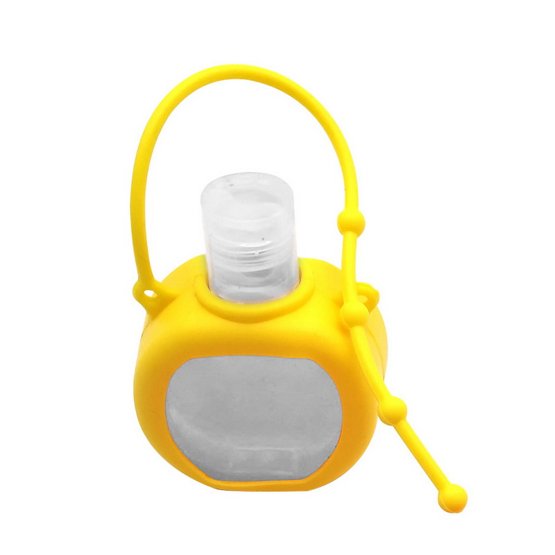 Cute Colorful Fruit Food Silicone Mini Hand Sanitizer Portable Hand Sanitizer Bottle Liquid Soap Liquid Dispenser Container
