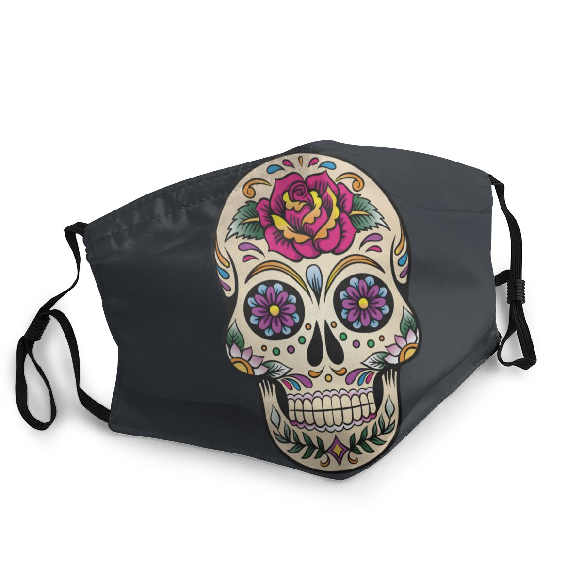 Day Of The Dead Sugar Skull Reusable Mouth Face Mask Printed Anti Bacterial Dustproof Protection Mask Respirator Mouth Muffle