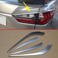 Chrome Taillight Tail Light Cover Trim Fit For Lexus RX200t RX350 RX450h 2016 2017 2018 2019 Decoration Moulding Accessories