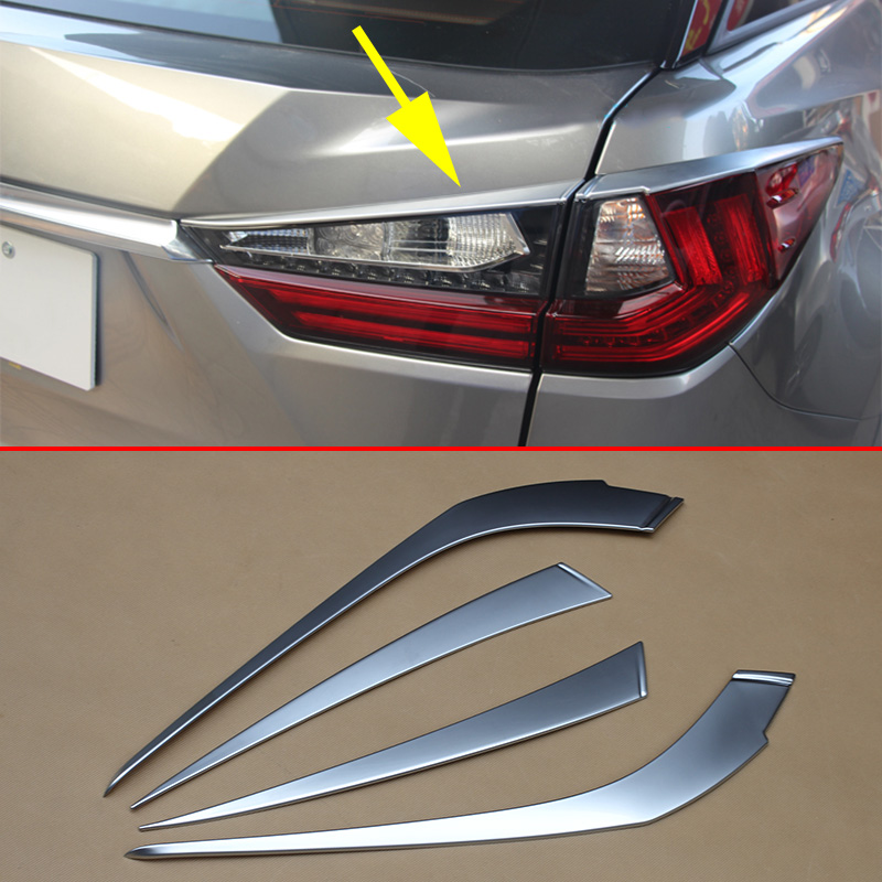 Chrome Taillight Tail Light Cover Trim Fit For <font><b>Lexus</b></font> <font><b>RX200t</b></font> RX350 RX450h 2016 2017 2018 2019 Decoration Moulding Accessories image