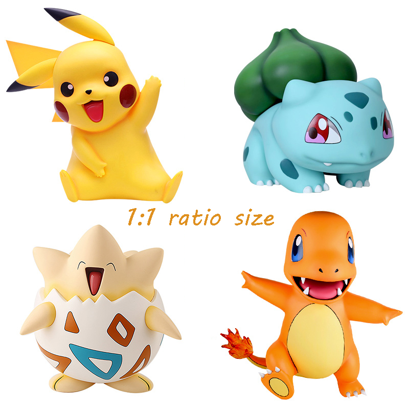 Big Size 1:1 Pokemon pikachu toy Charmander Cute Ver Jenny Turtle Action Figure Toys 46cm image