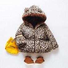 Зимнее милое пальто с капюшоном для маленьких девочек; теплая верхняя одежда с леопардовым принтом; детская куртка; одежда для детей; пальто для новорожденных; Модная одежда