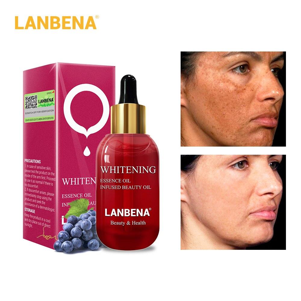 LANBENA Vitamin C Whitening Essential Oil  Skin Serum Face Cream Firming Anti-Aging Fade Dark Spots Repair Acne Spots 15ml