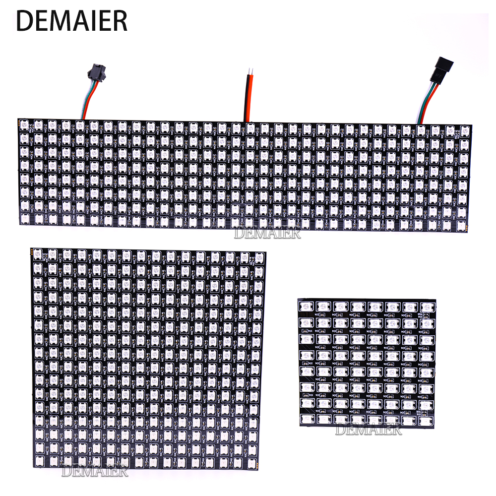WS2812B  Flexible Pixel 8x8 16x16 8x32 SK6812 Individuell Adressierbare Digitale led-modul Panel Flexible DIY Display Board DC5V