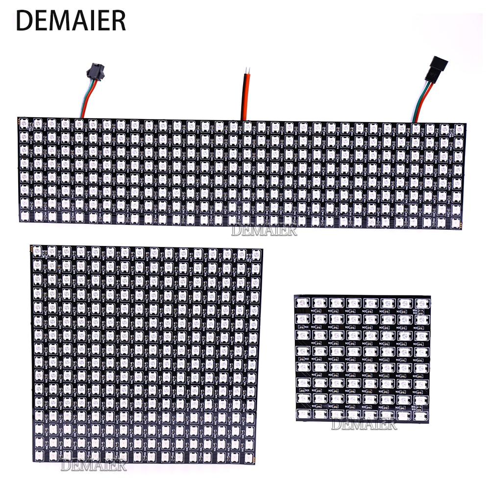 WS2812B  Flexible Pixel 8x8 16x16 8x32 SK6812 Individuell Adressierbare Digitale Led-modul Panel Flexible DIY Display Board DC5V