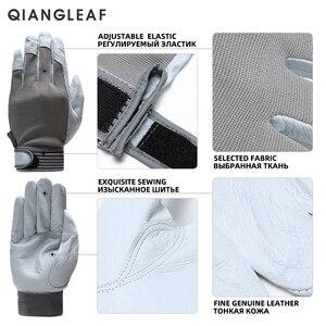 Image 5 - Qiangleaf 3 pçs venda quente d grau luvas de couro luvas de trabalho de segurança resistente ao desgaste luvas de trabalho masculino mitten frete grátis 508