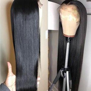 Image 3 - Jaycee prosto 13x4 koronki przodu włosów ludzkich włosów peruki brazylijski dziewiczy Remy włosy dla czarnych kobiet 360 peruki typu Lace Front
