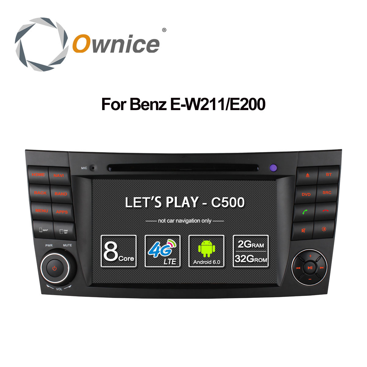 4G SIM LTE Android 6.0 Octa 8 Core 1024*600 Car DVD Player for <font><b>Mercedes</b></font> E Class <font><b>W211</b></font> W209 W219 WIFI Radio <font><b>GPS</b></font> 2GB RAM 32GB ROM image