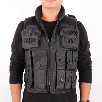 Outdoor Genuine Man's Tactical Vest Black Bulletproof Vest Model Tactical Vest cs Vest Swat Protective Equipment multi pocket tactical vest black male vest outdoor male cs field equipment breathable mesh