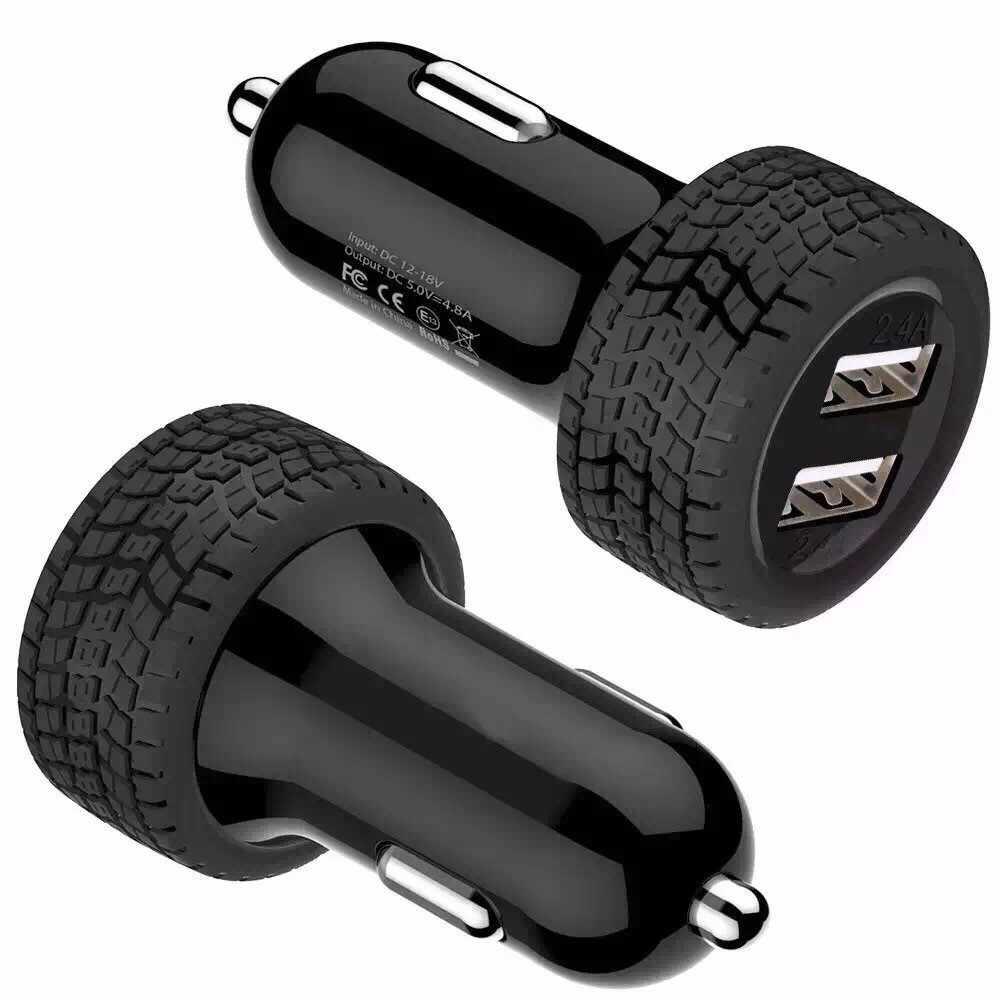 Mini Dual 2 Port 12V USB Auto In Car ChargerАвтомобильное зарядное устройство Adattatore Adattatore di Ricarica Pengisi baterai mobil ##0