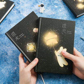 Finding Light Hard Cover Diary Beautiful Notebook Colored Papers Notepad Journal Memo Girls Cute Stationery Gift rabbit nina faux leather cover journal diary cute notebook notepad girls planner stationery gift