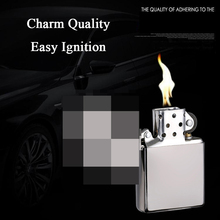 Stainless Steel Butane Lighter Windproof Cool Candle Creative Refillable Gas Torch Lighters Gadgets For Men Dropship Suppliers chairman mao pattern stainless steel plastic windproof oil lighter red