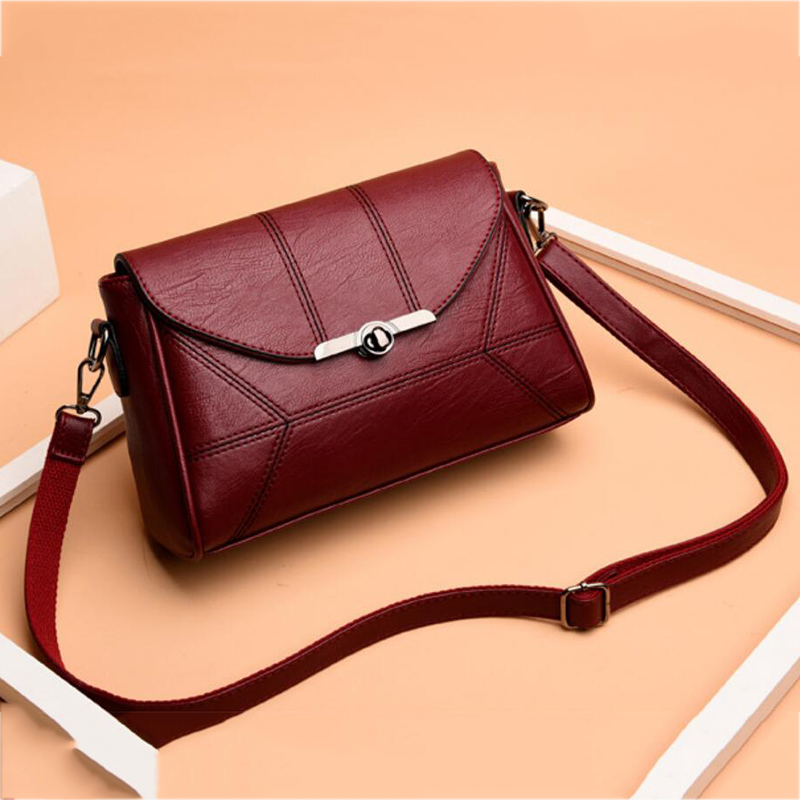 Yogodlns Simple Designer Women Shoulder Bag Fashion Handbag and Purse PU Leather Crossbody Bags for Women 2020 New Black&Winered