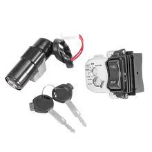 HTHL Honda PCX 용 키가있는 점화 스위치 배럴 잠금 장치 125 150 2010 2011 2012 2013
