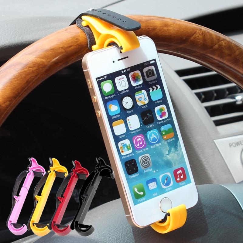 Multifunction Car Phone Holder Steering Wheel Mobile Vehicle Navigation Holder Car GPS Rest Supplies Creative Free Shipping