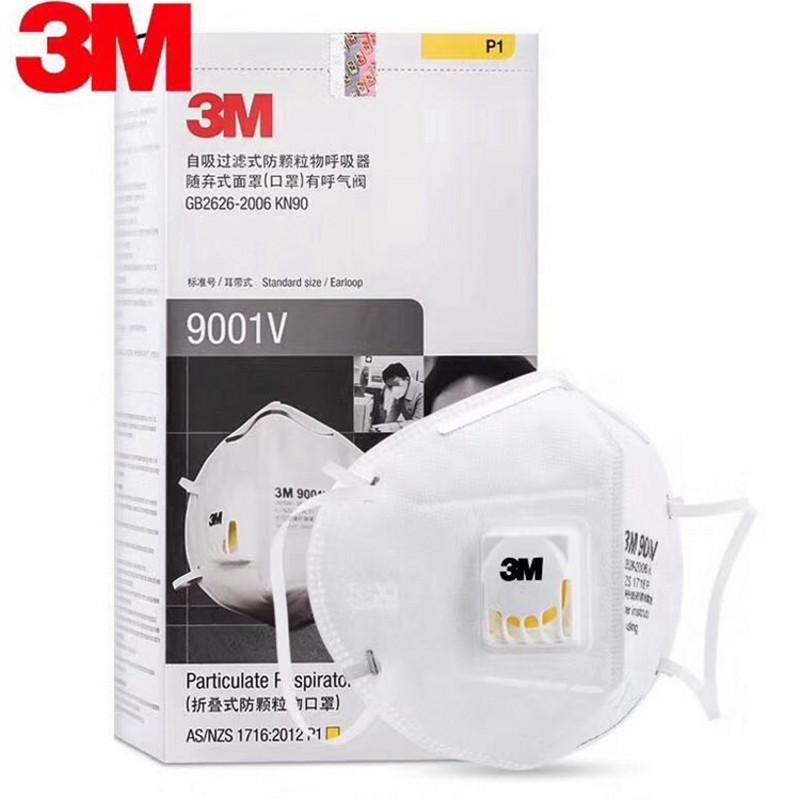 In Stock 3M 9001V Face Mask With Filter Respirator Breathing 3M Mask PM2.5 Anti Virus Dust Bacterial FFP2 FFP3