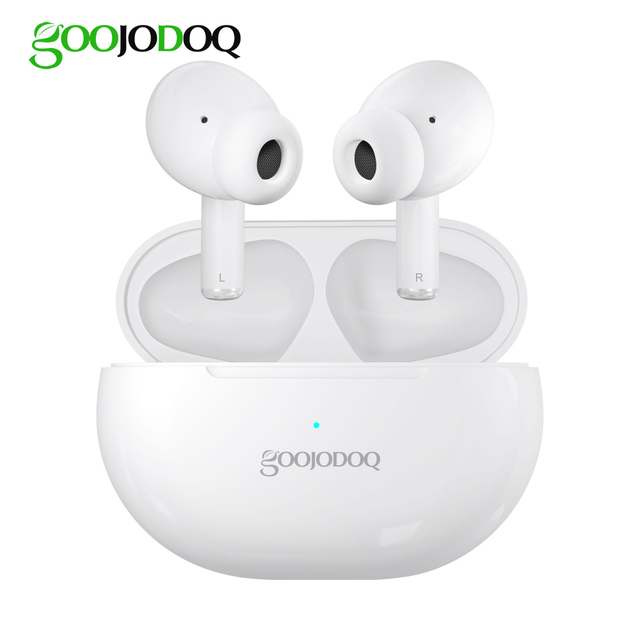 Wireless Bluetooth Earphone with Charging Case, GOOJODOQ Hi Fi Stereo IPX5 TWS Wireless Headphone Bluetooth Earbuds Headset