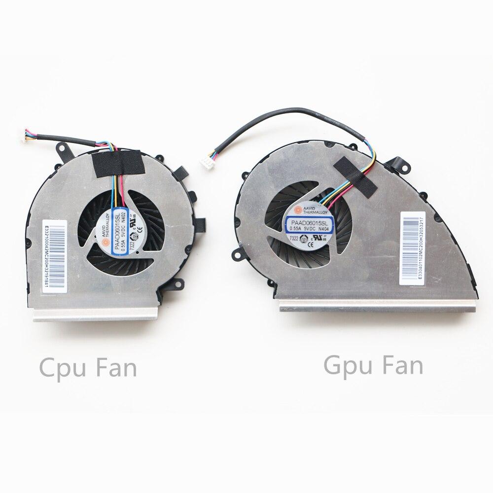 Новый охлаждающий вентилятор для Msi GE72VR GP72VR GL72VR MS 179B Cpu & GPU