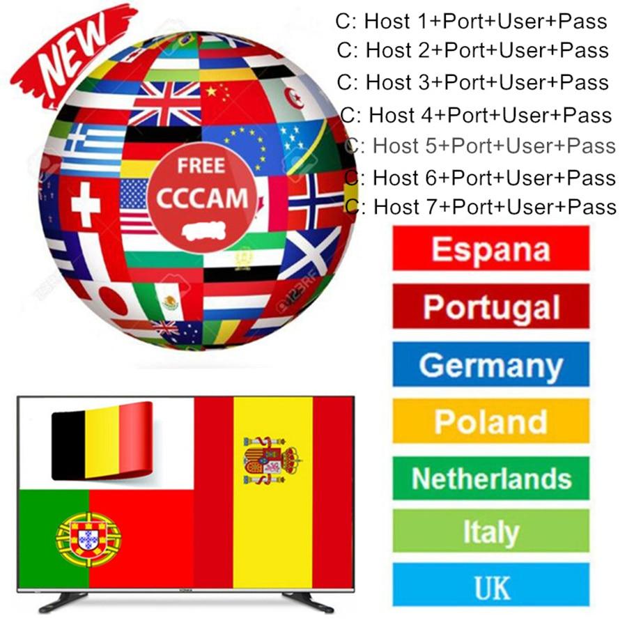 8 Lineas Ccam Испания 1 год для Cccam Португалия Польша рецептор Satelite Hd Enigma 2 спутниковый ресивер Oscam Cccams Cline Европа