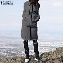 ZANZEA 2020 Autumn Winter CasuaL Women Long Hoodies