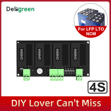 Qnbbm 4S 12v bateria de lítio equalizador balanceador bms para li ion lifepo4 lto lincm lmo 18650 diy proteção pacote