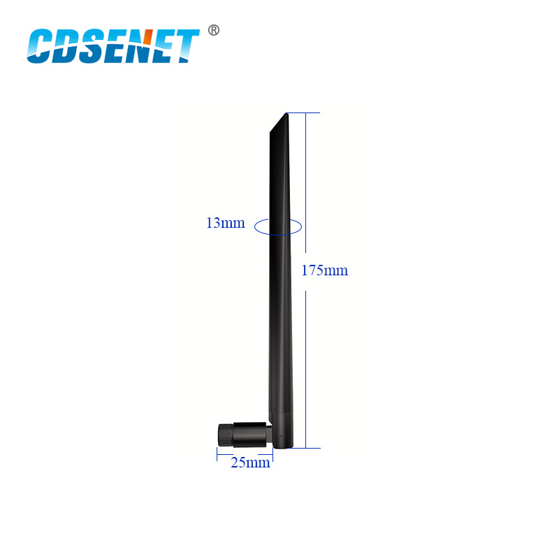 2Pcs 2.4GHz Wifi Uhf Omni Directional Antenna High Gain TX2400-JKD-20 3.0dBi Flexible 2.4G Omnidirectional Whip Antenna