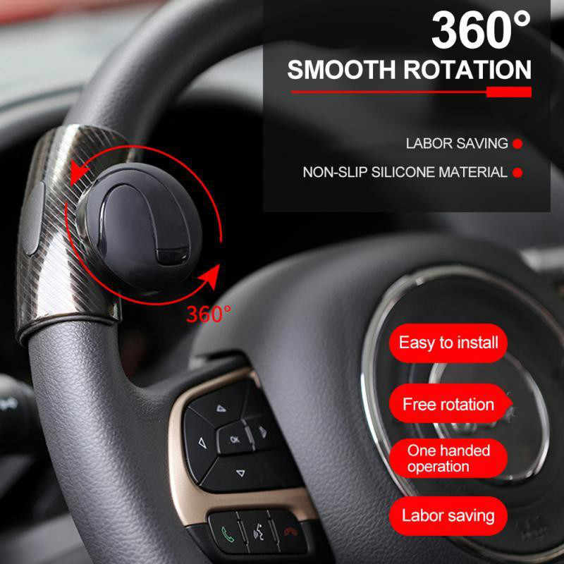 360 ° Kemudi Knob Bola Mobil Steeringbooster Silikon Power Steering Handle Ball Booster Penguat Auto Spinner Knob
