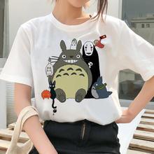 Harajuku japonês dos desenhos animados anime t camisa feminina oversized camiseta totoro impressão camiseta roupas femininas streetwear topos camiseta