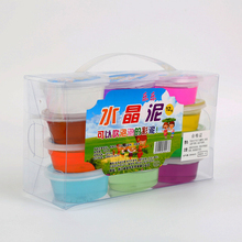 Clear Slime Box Transparente Crystal Set DIY Light Magic Sand 12 Colors Transparent Fruit Clay