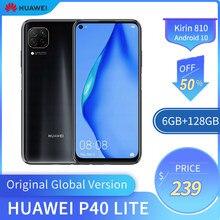 Original global huawei p40 lite 6gb + 128gb kirin 810 telefone inteligente 48mp câmera frontal 16mp 6.58 polegadas android 10 smartphone