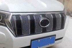 Dla Toyota Land Cruiser Prado LC150 FJ150 2018 samochodów stylizacji 1 zestaw przedni grill wyścigowy Grille akcesoria ze stali nierdzewnej
