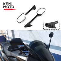 KEMIMOTO For Yamaha T MAX 500 Long Rear View Side Mirrors XP 500 T MAX500 TMAX 500 XP500 2008 2010 2011 2012 Motorcycle mirror